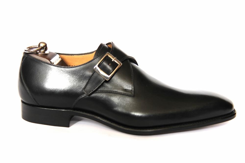 Los últimos zapatos de descuento para hombres y mujeres Carlos Santos Zapatos Monje-Correa, Negro Cuero, Z187 último