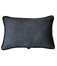 Grey Herringbone / Black Velvet
