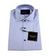 Benjamin Sport Shirt: Blue Plaid