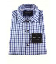 Benjamin Sport Shirt: White & Blue Check