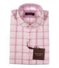 Benjamin Sport Shirt: Pink Plaid