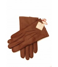 Dents: English Tan Handsewn Cashmere Lined Hairsheep Leather Gloves
