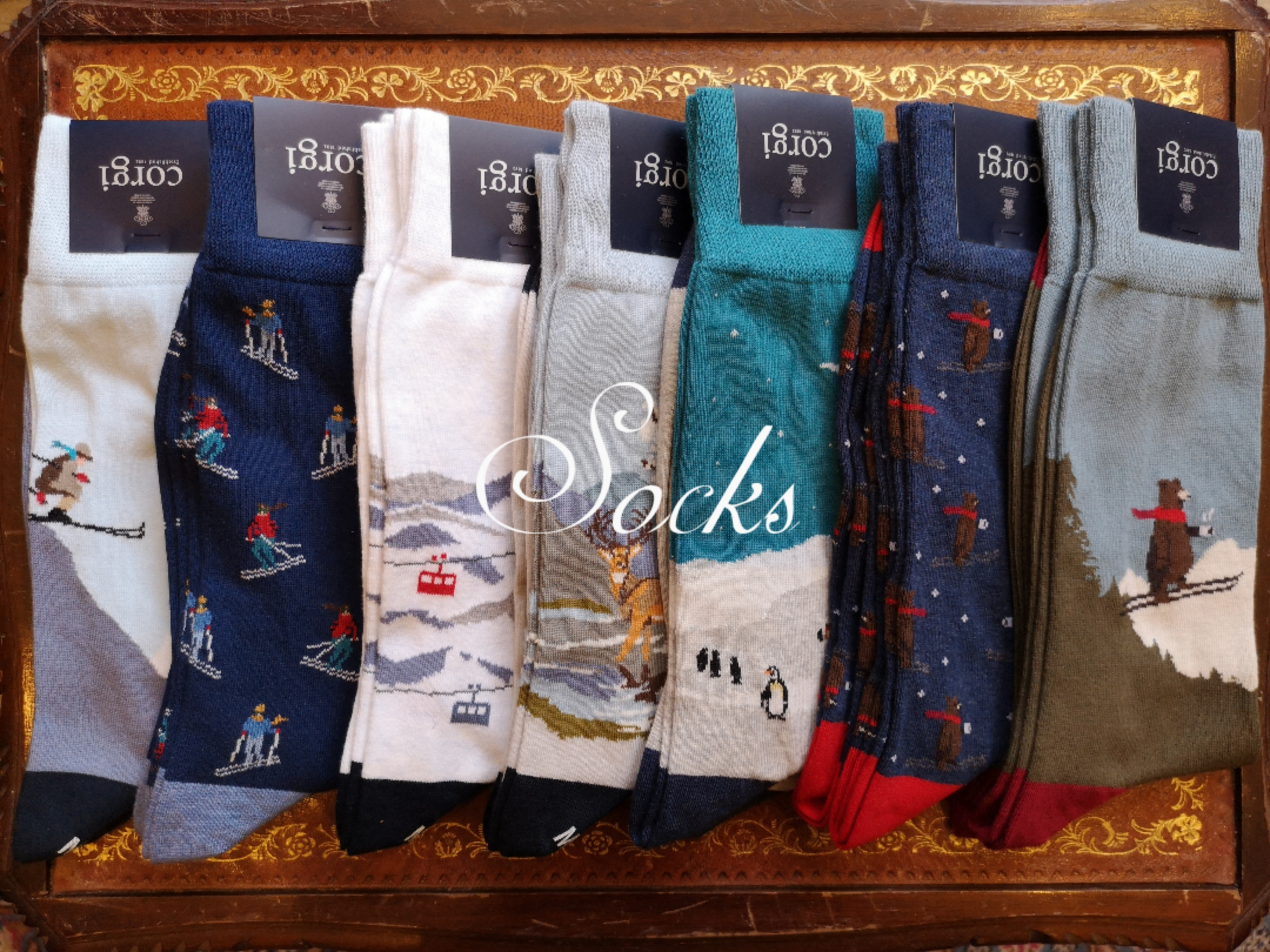 The Wardrobe Wimbledon British Winter Sock Collection Corgi