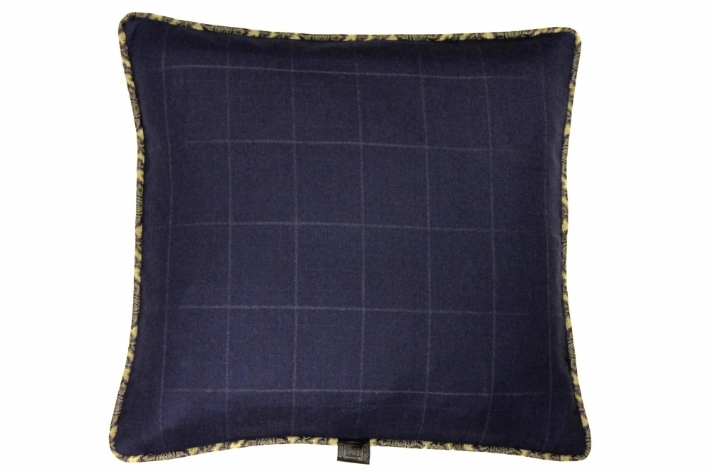 Soft Navy Windowpane