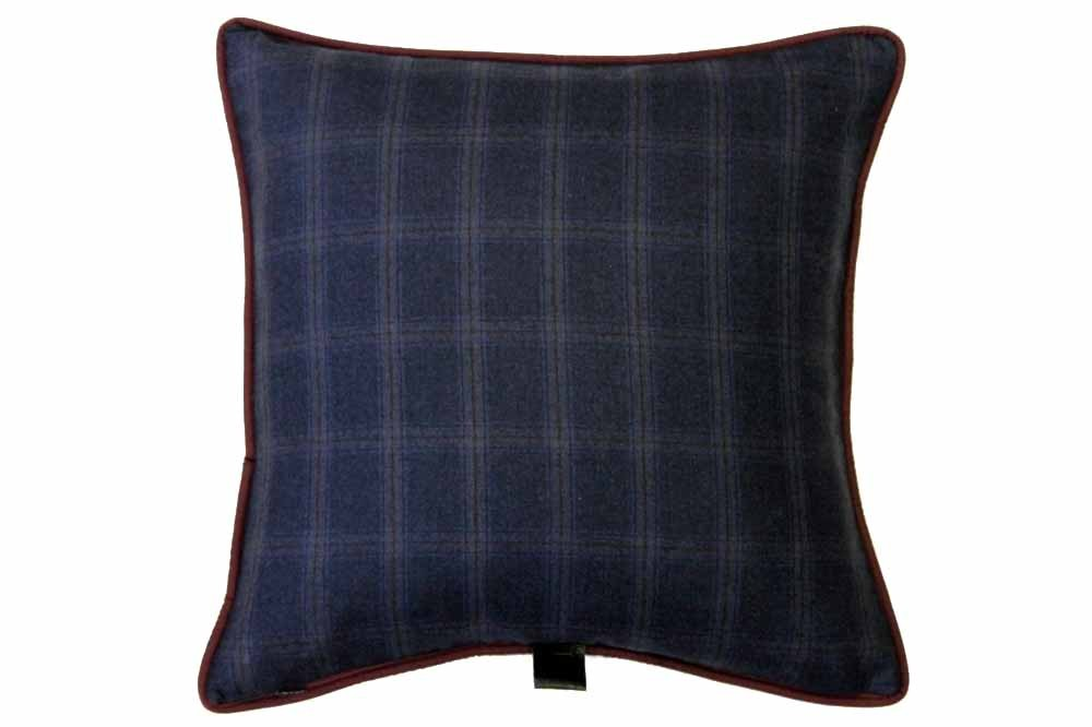 Blue with Wine Overplaid