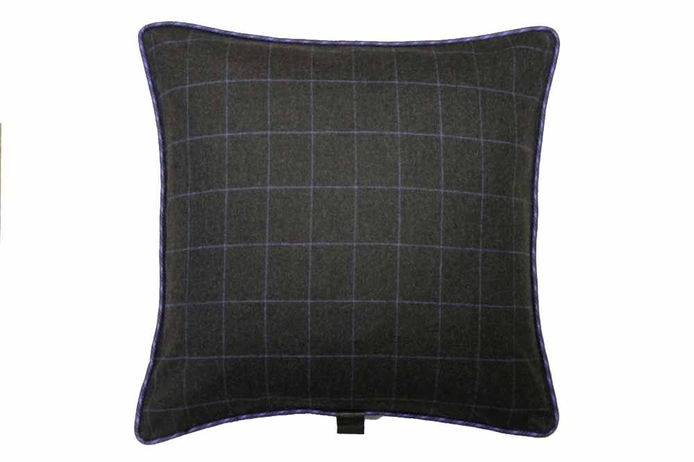 Earthy Charcoal Windowpane