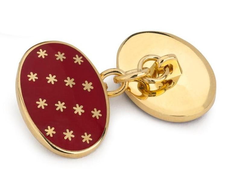 Benson & Clegg: Red Stars Cufflinks