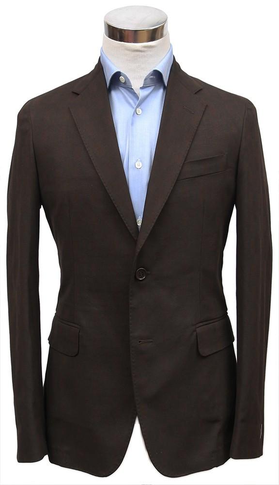 Bella Spalla Sport Coat: Brown Plaid
