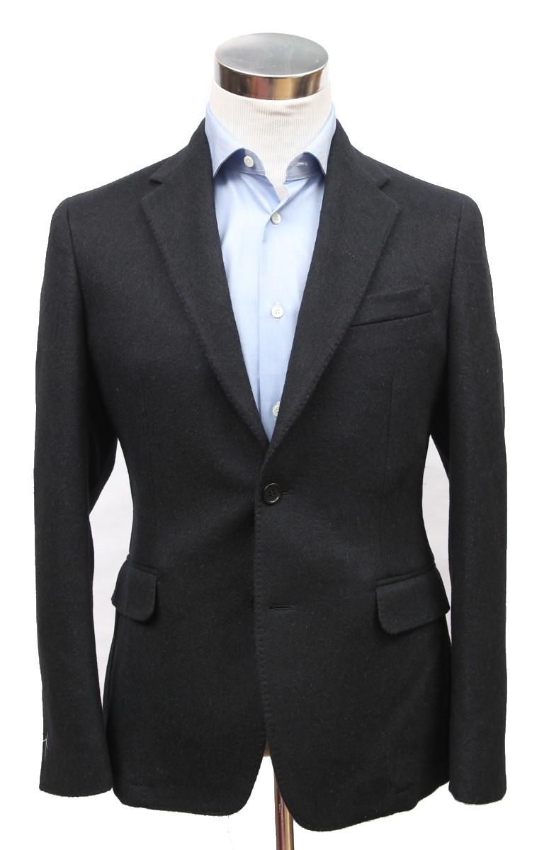 Bella Spalla Sport Coat: Black Twill