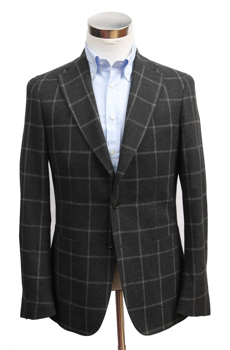 Benjamin Sport Coat: Charcoal Windowpane