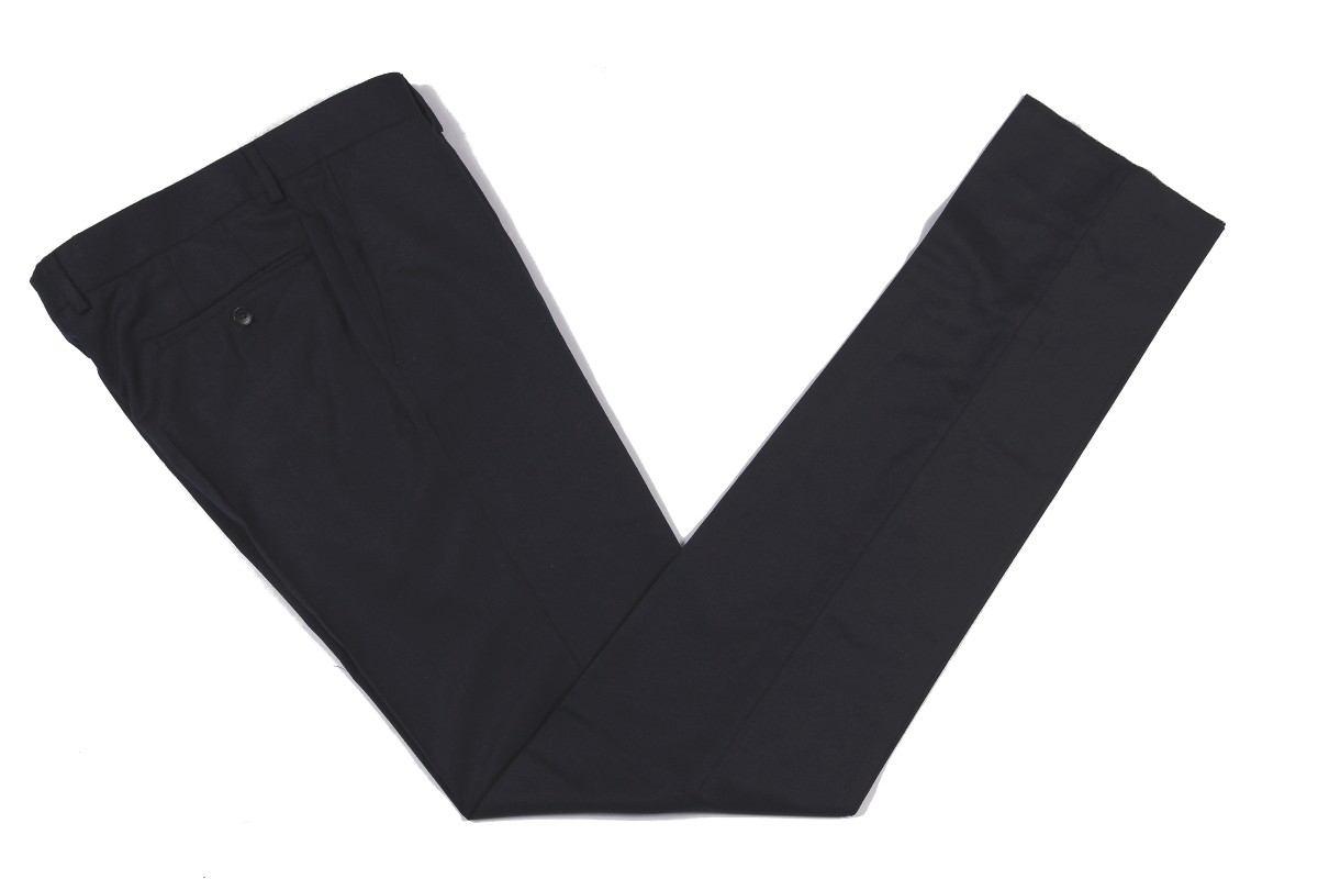 The Wardrobe Trousers Dark Navy Doeskin