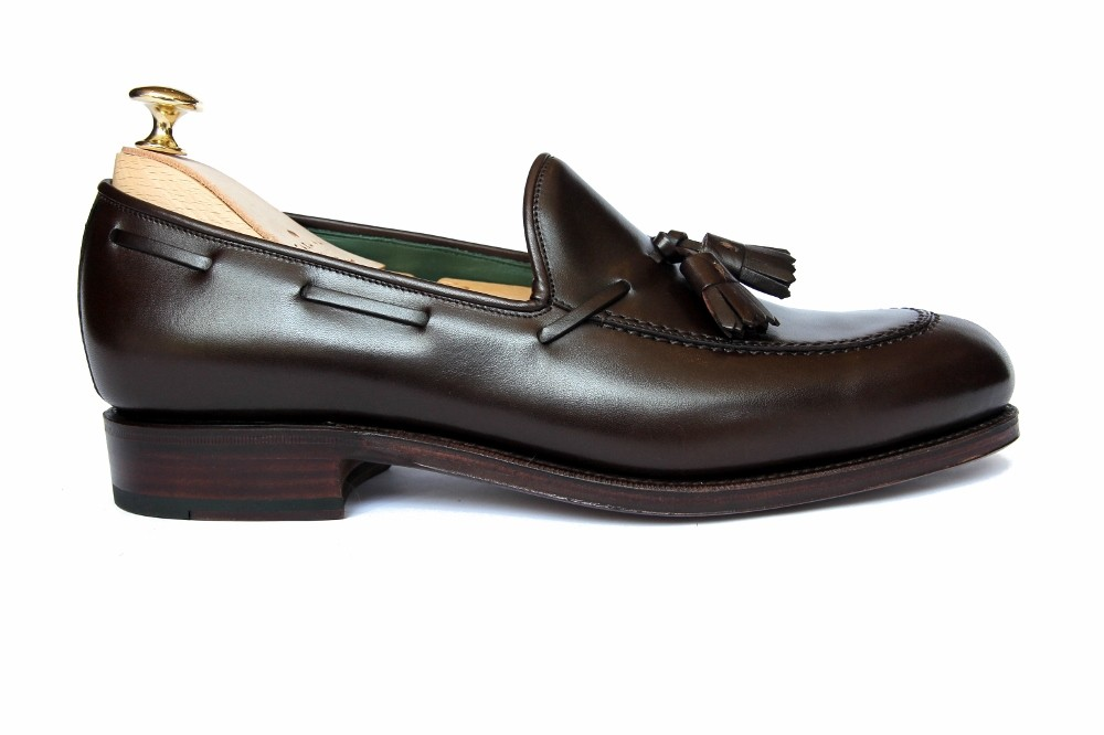 2ee3fd25a29 Carmina Brown Box Calf Leather Tassel Loafer - Loafers - Footwear