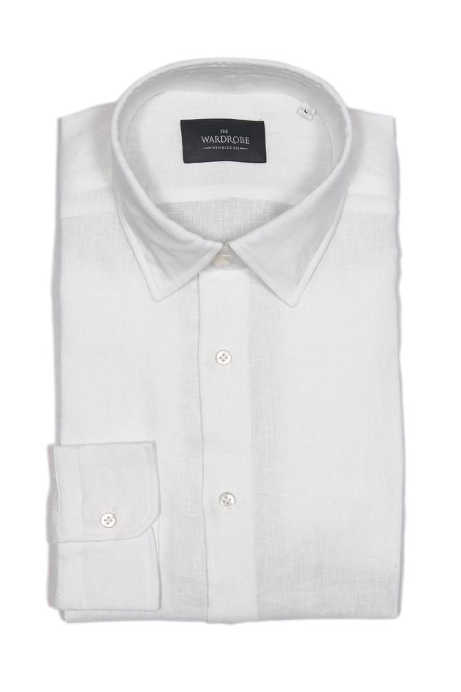 The Wardrobe Casual Shirt: White Linen