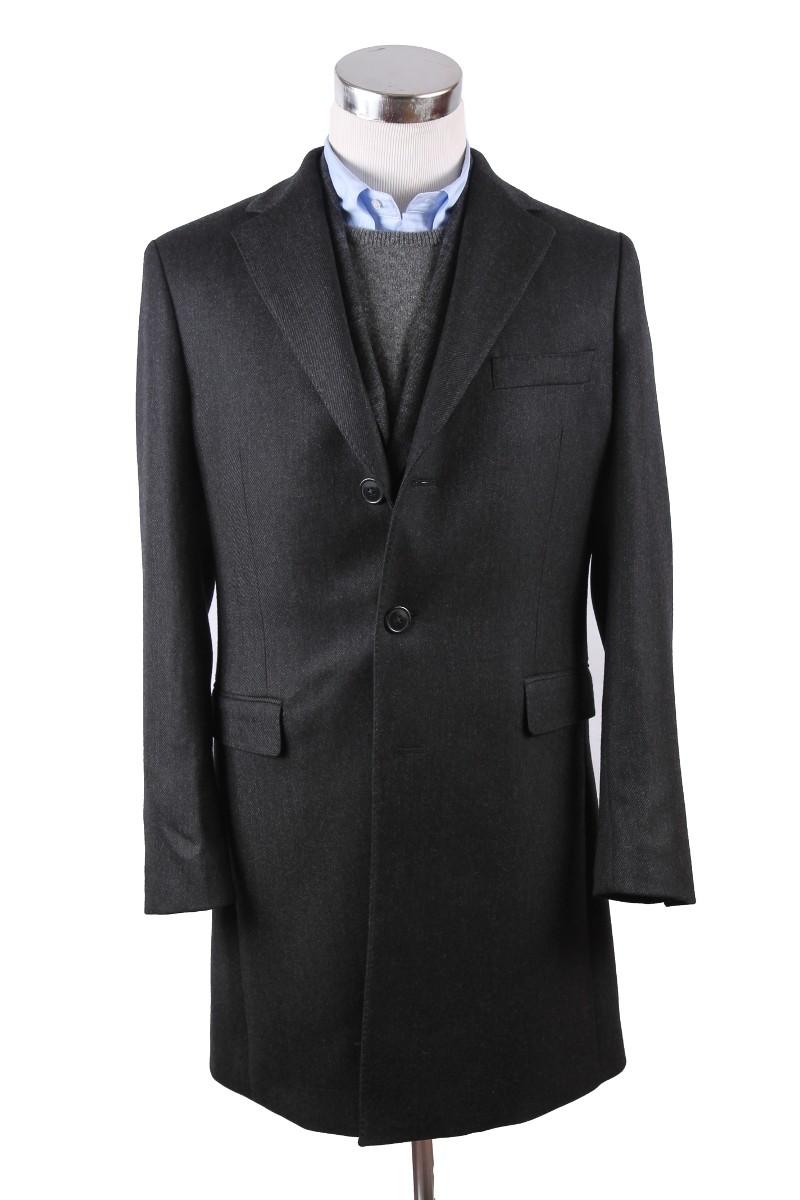 The Wardrobe Coat Charcoal Wool Twill