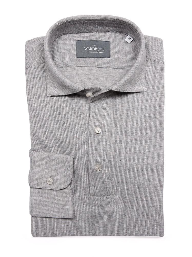 The Wardrobe Long Sleeve Polo Shirt