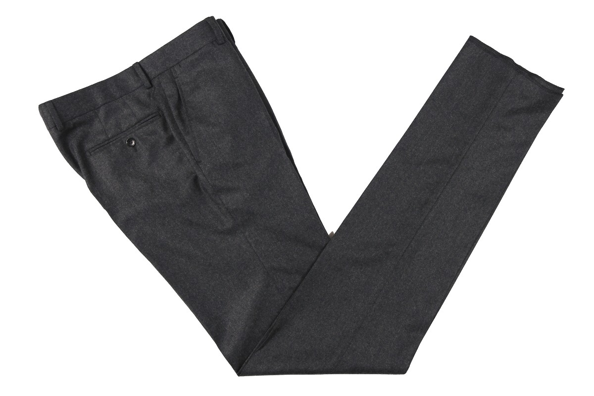 The Wardrobe Trousers: Medium Charcoal Doeskin