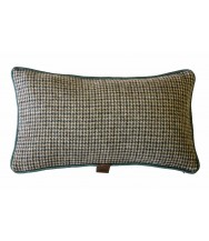 Oatmeal & Moss Houndstooth / Solid Brown