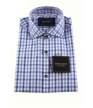 Benjamin Sport Shirt: White & Blue Check