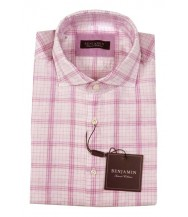 Benjamin Sport Shirt: Pink Plaid