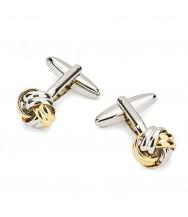 Benson & Clegg: Silver/Gilt Knot Cufflinks
