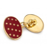 Benson & Clegg: Red Stars Cufflinks