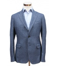 Bella Spalla Sport Coat: Bright Navy Weave