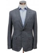 Bella Spalla Sport Coat: Blue Plaid