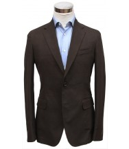 Bella Spalla Sport Coat: Brown Plaid