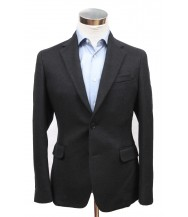 Bella Spalla Sport Coat: Black Twill