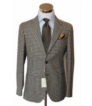 Bella Spalla Sport Coat: Grey Shepherds check
