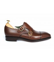 Carmina Brown Vegano Leather Double Monk Strap