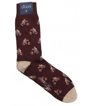 Corgi Sock: Large Burgundy Vespa