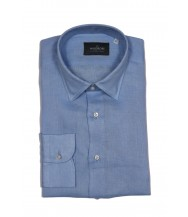 The Wardrobe Casual Shirt: Sky Blue Linen