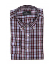 The Wardrobe Casual Shirt: Red and White Plaid