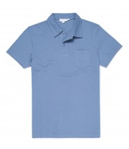 Sunspel Riviera Polo Shirt: Airforce Blue