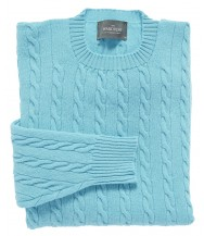The Wardrobe Sweater: Turquoise Cable Knit